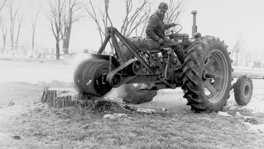 One of the first Vermeer Stump Cutters